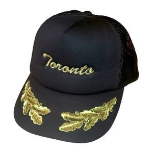 Vintage Toronto Black Snap Back Nautical Ballcap
